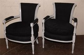 9. Pair of Directoire Style Fauteuils