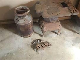 Antique Iron Stove