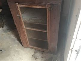 Antique ScreenedIn Cabinet