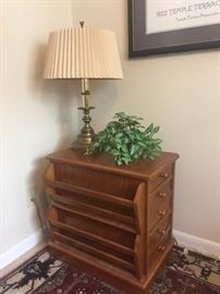 Side Table and Lamp https://ctbids.com/#!/description/share/118997