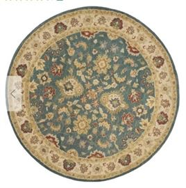 Antiquites Handwoven Wool Blue Beige Area Rug 36 ...