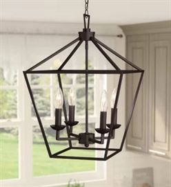 Carmen 4Light Lantern Pendant Oil Rubbed Bronze