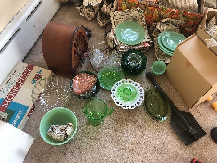 Jadeite glass