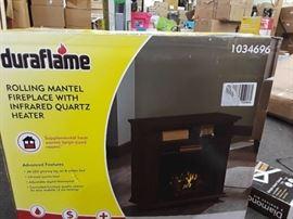 Duraflame 31.5 Wide Cherry Infrared Quartz Electr ...