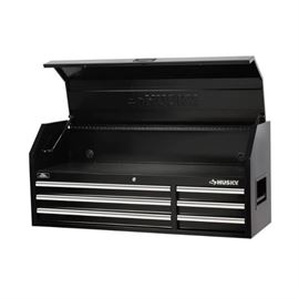 Husky 52 in. 6Drawer Tool Chest, RustResistant P ...