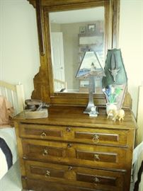 antique chest w/mirror