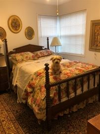 Wheeler-Jamison Bedroom set with a Jenny Lind style double bed frame.  1940's