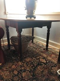 1700's Oval Dining Table with leaves.