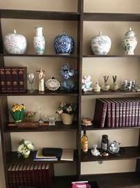 Various Asian vases, ginger jar, etc.