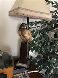 Very unusual bird lamp