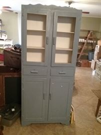 Retro painted Jelly/Kitchen Cabinets....2 doors (no glass or screen); 2 drawers; 2 doors on bottom; we used this in our upstairs bathroom for YEARS!!!!!