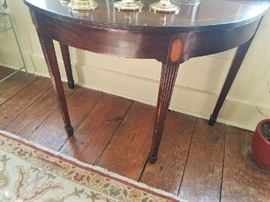D End of dining table with inlay