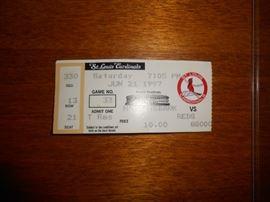 St Louis Cardinals  ticket - June 21, 1997