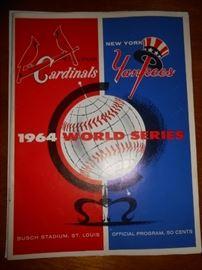Official program 1964 World Series Cardinals vs Yankees
