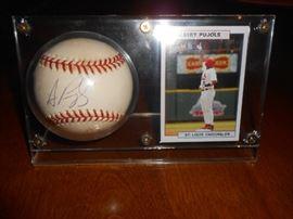 Signed Albert Pujols baseball and card!