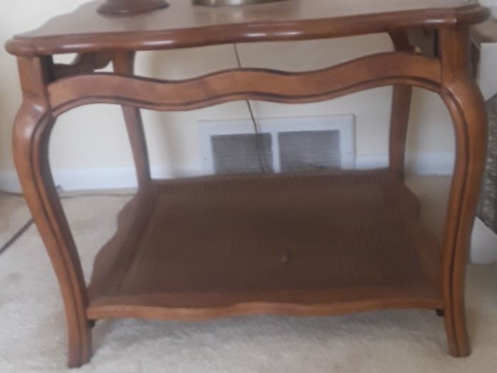 French provencial side table. There is also a matching coffee table and sofa/hall  table.