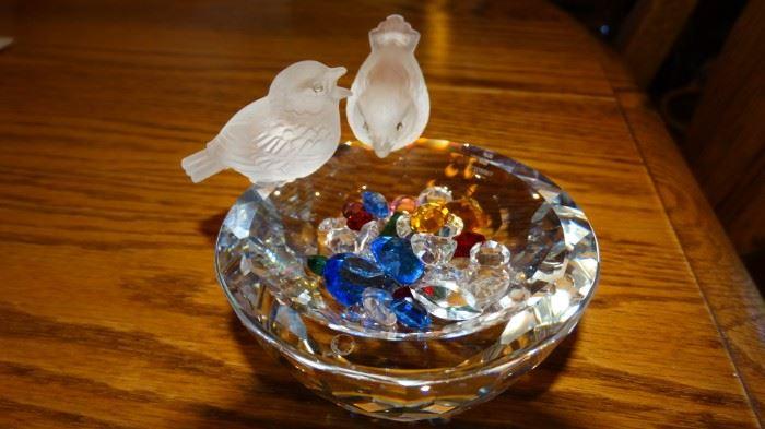 SWAROVSKI LOVE BIRDS & BIRD BATH