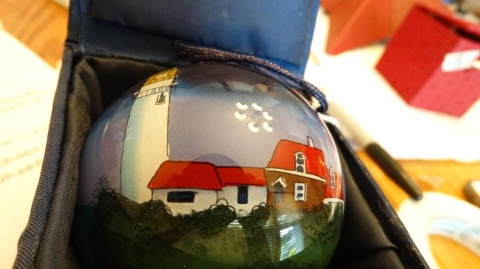 REVERSE PAINTED ORNAMENT