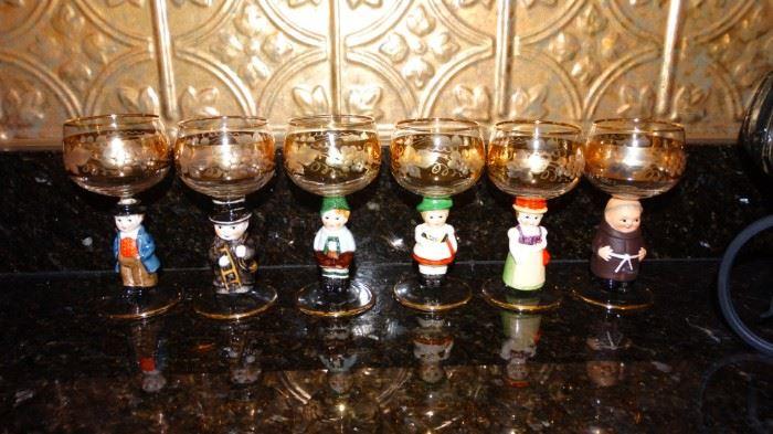 GOEBEL HUMMEL WINE GLASSES