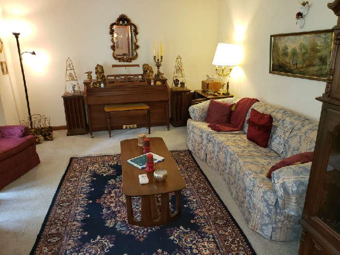 Formal living Room with Mid Century & Hollywood Regency Furnishings