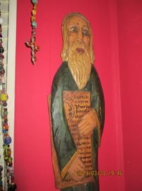 """24"""" Wood Carved Icon"""