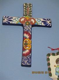 Painted Terracotta Cross