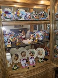 Disney plates and memorabilia