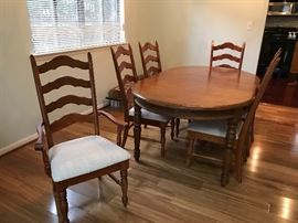 Dining Room Table & 6 Ladder Back chairs