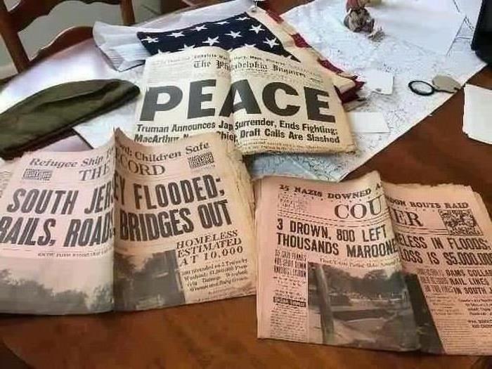 1940 & 1945 Newspapers