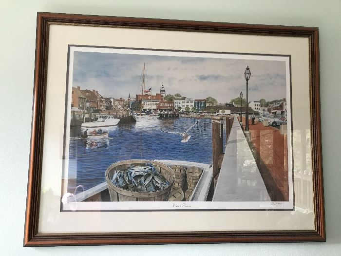 """Crab Town"" Framed Print"