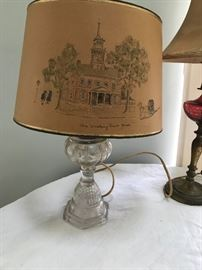 Glass Base Lamp