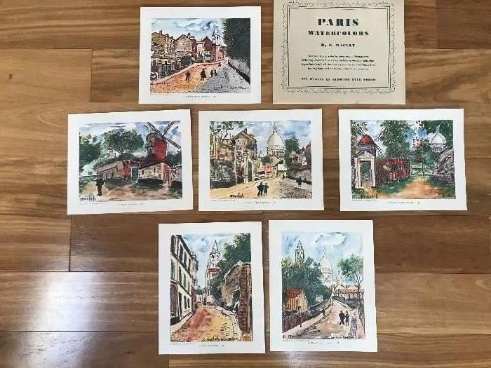 Paris Watercolors Prints