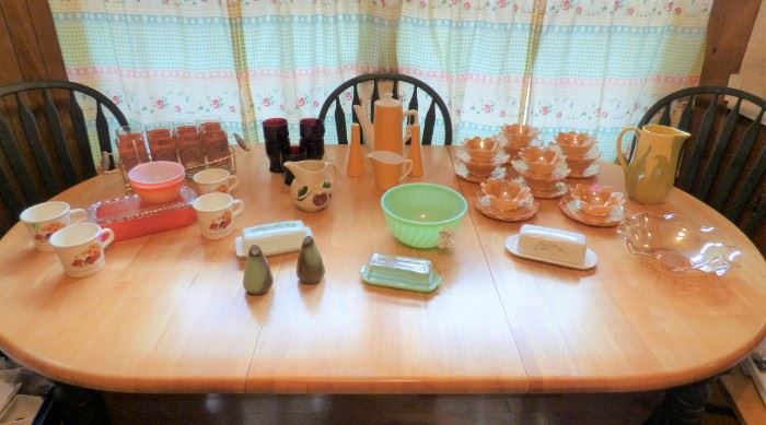 Table of Vintage Kitchen Items