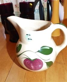 Vintage Watt Apple Creamer