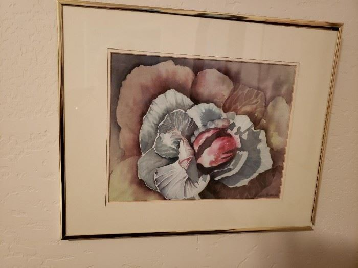 Original Framed Watercolor by Jeanne Burnham