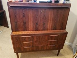 Mid-Century Modern/Eames Era Secretary Cabinet in fantastic shape. Beautiful Rosewood.