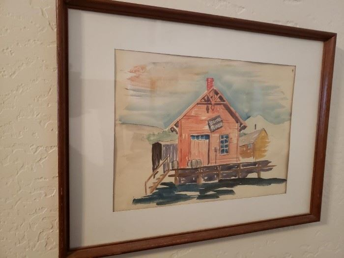 Original Framed Watercolor