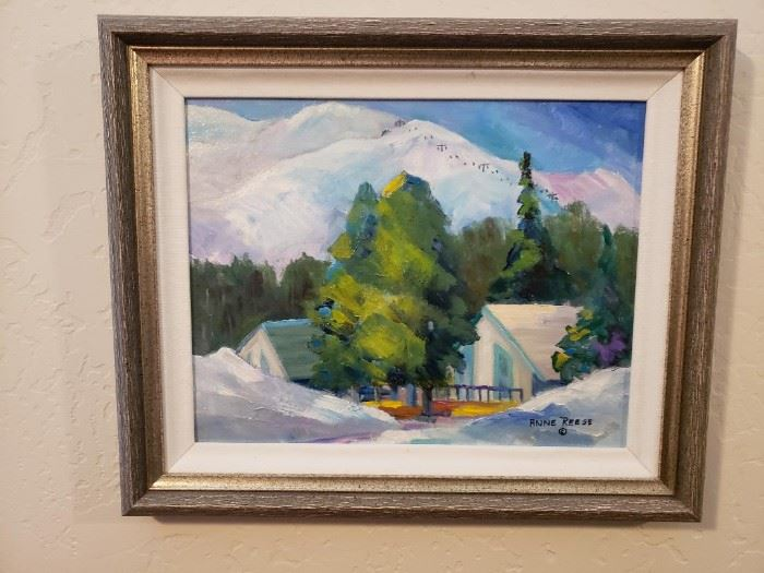 Original Framed Oil by Anne Reese