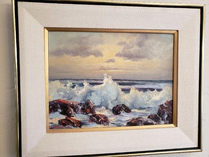 Seascape Original Oil signed by Maker