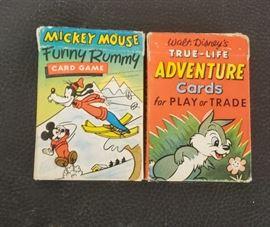 Vintage Walt Disney Card Sets
