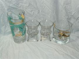 1960s barware and cut glass