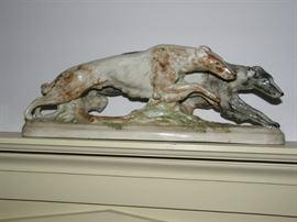 GOLDSHEIDER 1950 Borzoi dogs, large