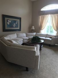 Mcm 4 piece sectional each piece is Aprox 77 inches long total length 308 inches