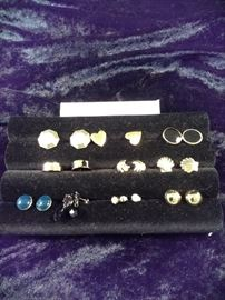 assorted pierced earrings