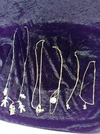 monogrammed necklaces