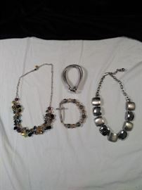 four pieces of jewelry, two bracelets, two necklaces https://ctbids.com/#!/description/share/125168