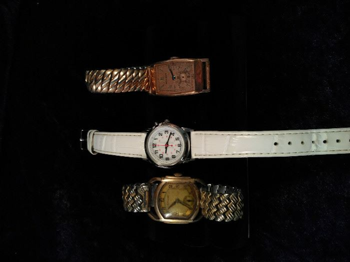 3, antique Hamilton wrist watch, Bulova wristwatch, costume watch https://ctbids.com/#!/description/share/125114
