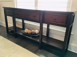 Dining Room Side Table with Drawers