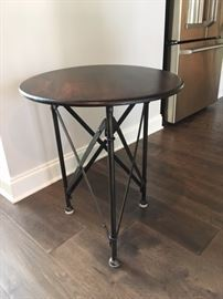 X Style Round Top Side Tables (2)