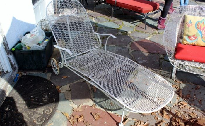 *Russell Woodward Mid Century Modern Patio Set W/Lounge Chair & Love Seat!